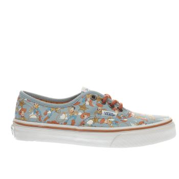 Vans Pale Blue Authentic Toy Story Woody Unisex Junior