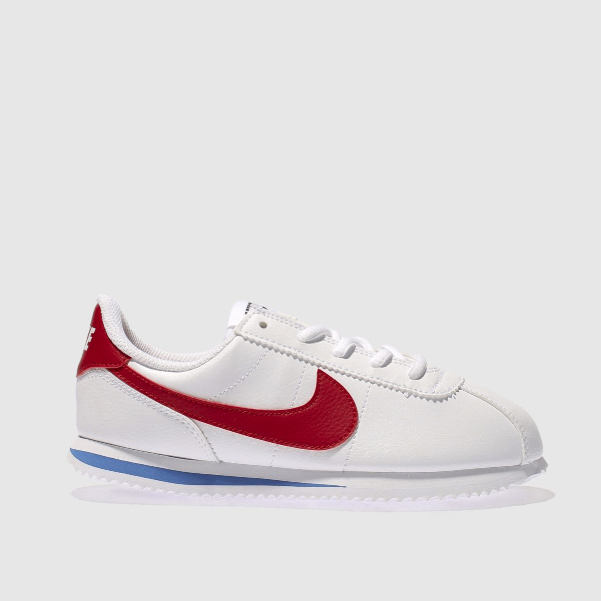 nike white & red cortez classic Junior Trainers