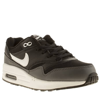 Unisex Nike Black & White Air Max 1 Unisex Junior