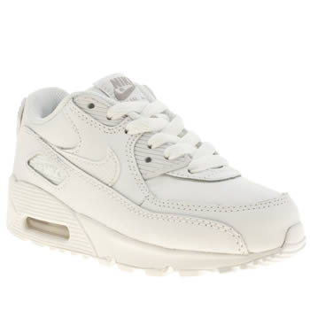 Unisex Nike White Air Max 90 Unisex Junior