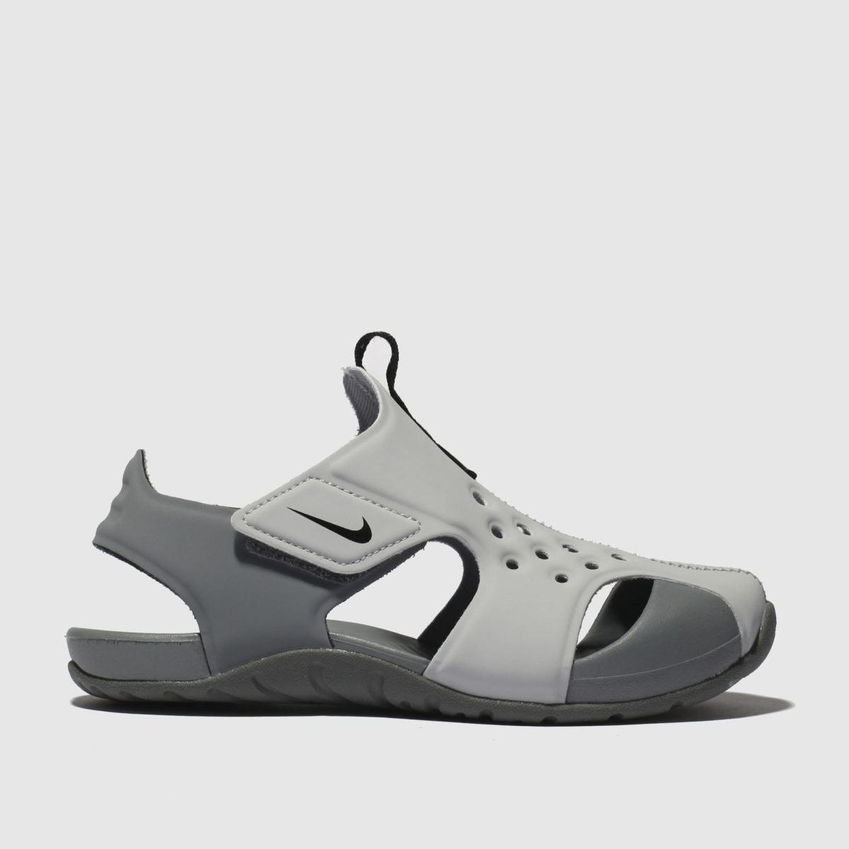Nike Light Grey Sunray Protect 2 Trainers Junior