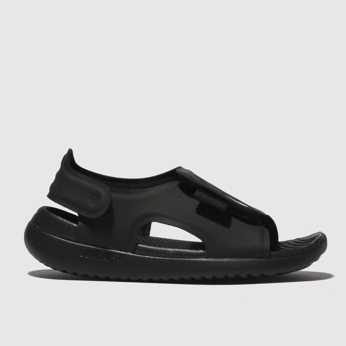 Nike Black & White Sunray Adjust Trainers Junior