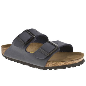 kids birkenstock navy arizona trainers