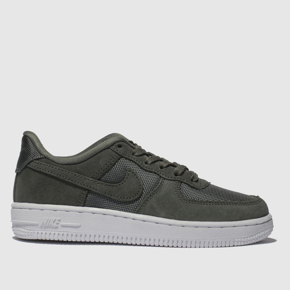 Nike Khaki Air Force 1-1 Trainers Junior