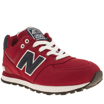 New Balance Red 574 Polo Unisex Junior