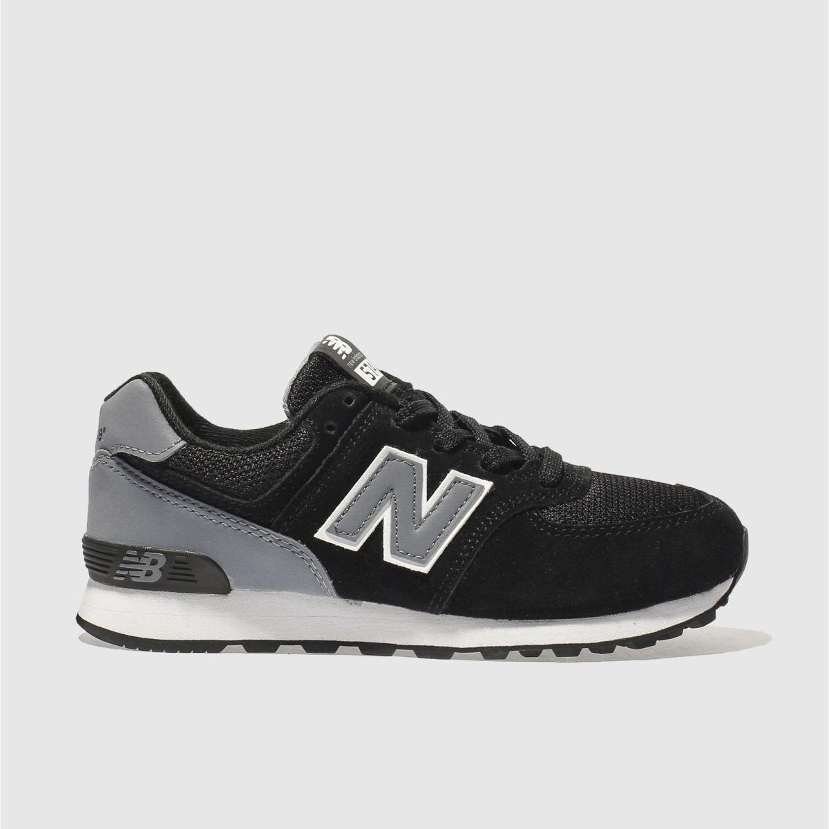 New Balance New Balance Black & Grey 574 Junior Trainers