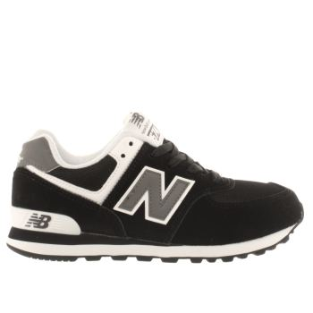 New Balance Black & White 574 Unisex Junior
