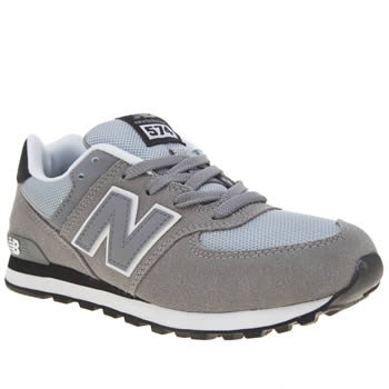 New Balance Grey & Black 574 Unisex Junior