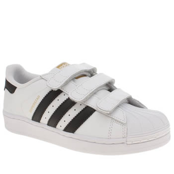 Unisex Adidas White & Black Superstar Foundation Unisex Junior