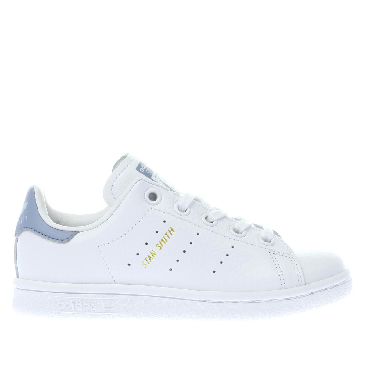 adidas white & blue stan smith Junior Trainers