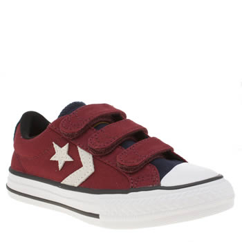 Converse Burgundy Star Player 3v Ox Unisex Junior