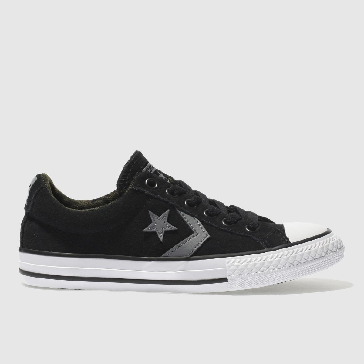 Converse Black & Grey Star Player Ox Junior Trainers