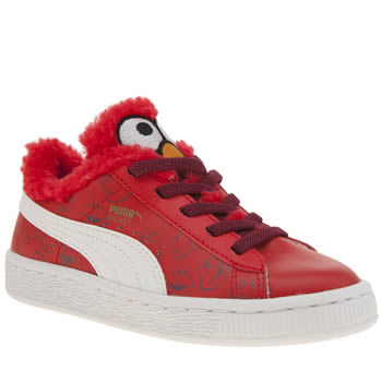 Puma Red Basket Sesame Street Unisex Junior