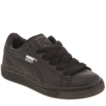 Unisex Puma Black Basket Unisex Junior