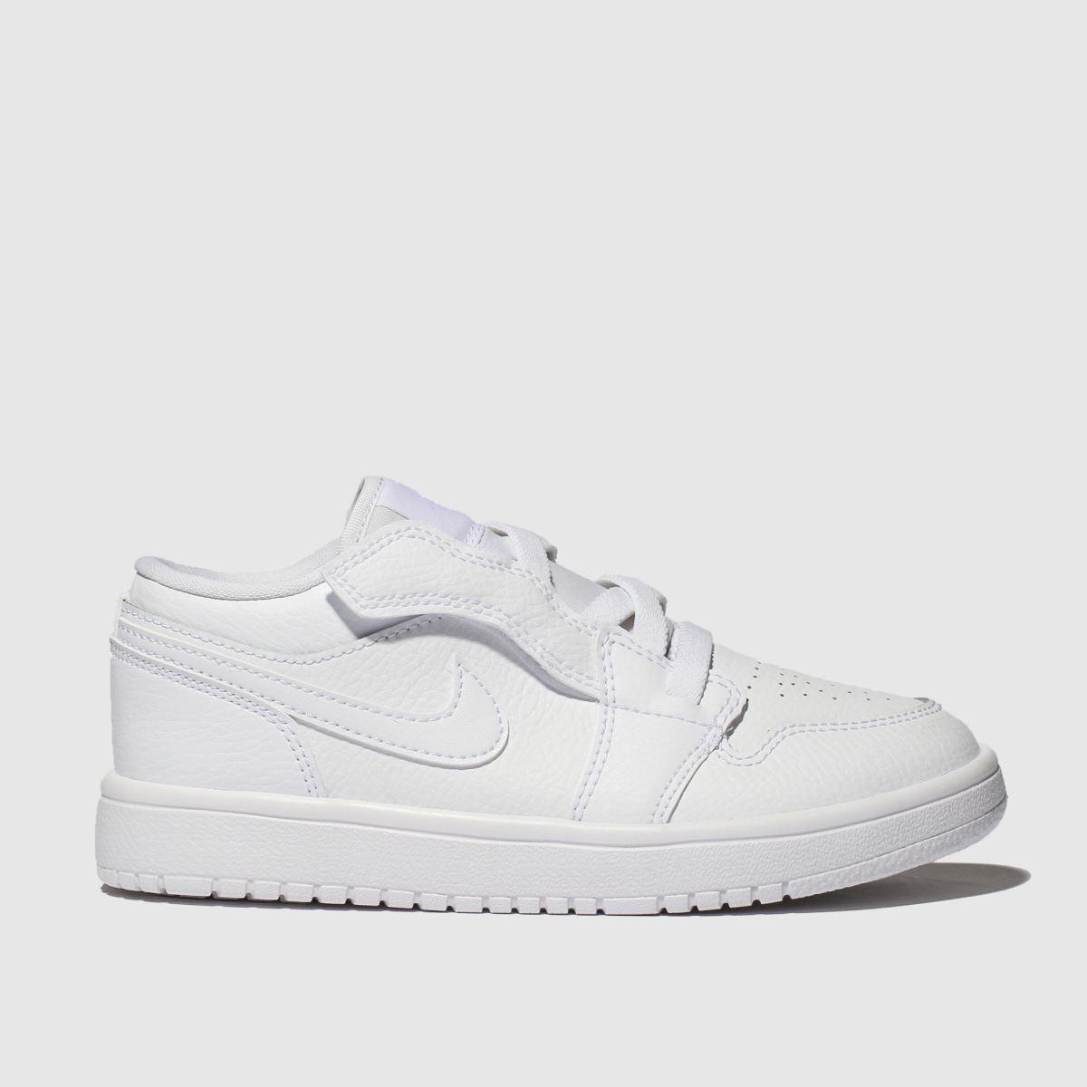 Nike Jordan White 1 Low Trainers Junior