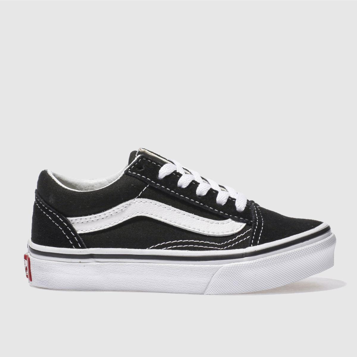 Vans Black & White Old Skool Unisex Junior Junior