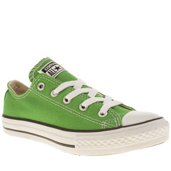 kids converse green all star ox trainers