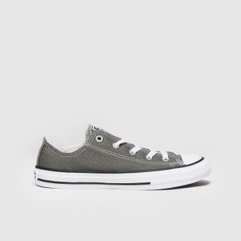Unisex Converse Grey All Star Lo Unisex Junior