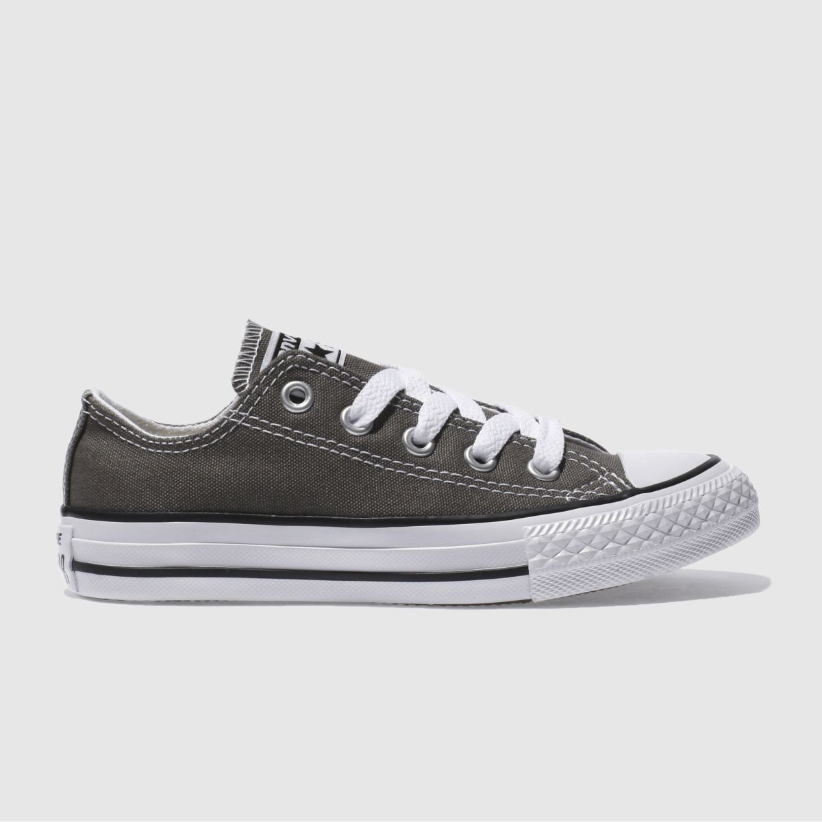 Converse Grey All Star Lo Trainers Junior