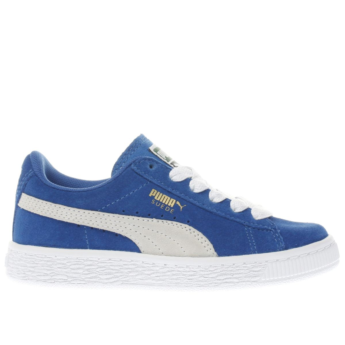 puma blue & white suede classic Boys Junior Trainers