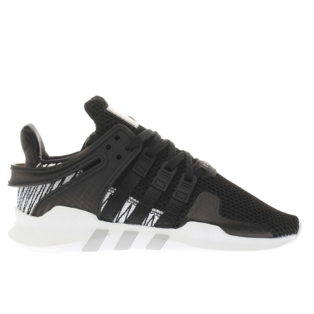 adidas black & white eqt support adv c Junior Trainers