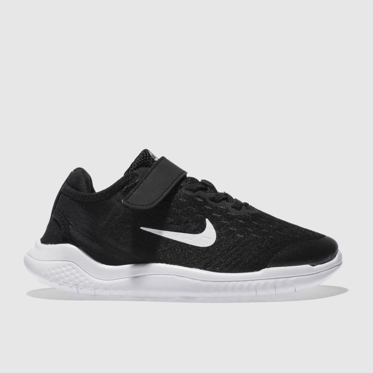 Nike Black & White Free Rn 2018 Trainers Junior