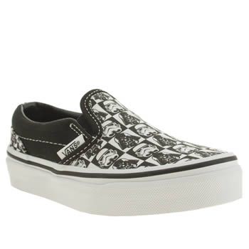 Vans White & Black Classic Slip On Unisex Junior