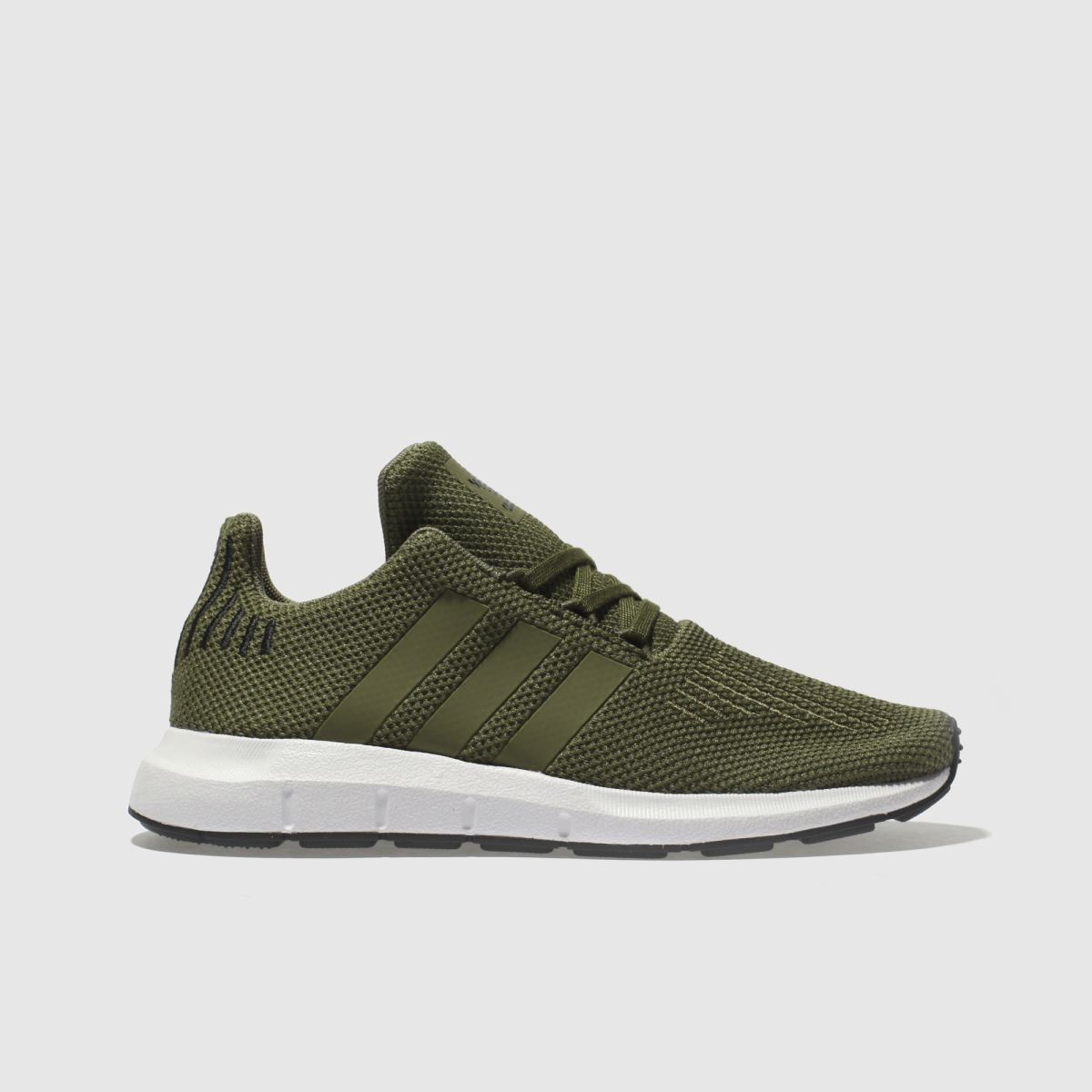 Adidas Khaki Swift Run Trainers Junior