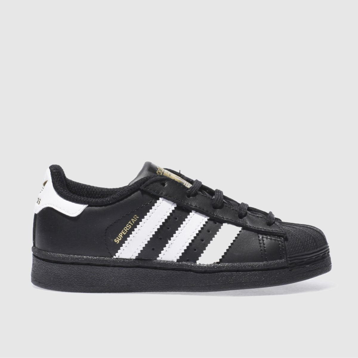 adidas black & white superstar Junior Trainers