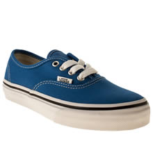 Junior Blue Vans Authentic
