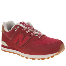 New Balance Red 574 New England Unisex Junior