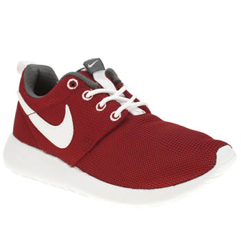 Unisex Nike Red Roshe Run Unisex Youth