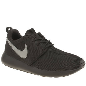 Unisex Nike Black & Grey Roshe Run Unisex Youth