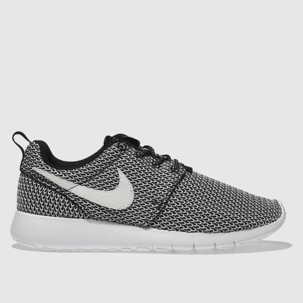 nike black & white roshe one Youth Trainers