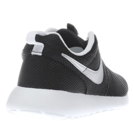 Kids Black & Silver Nike Roshe One Youth Trainers | schuh