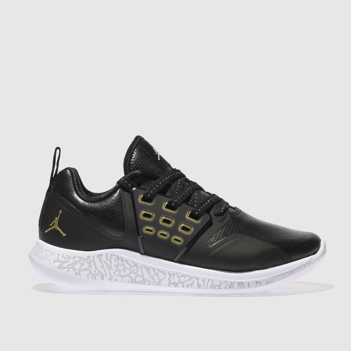 Nike Jordan Black & Gold Grind Youth Trainers