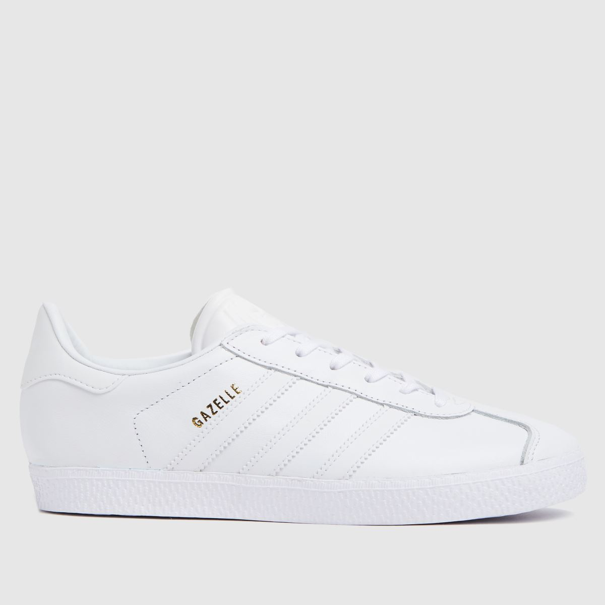 adidas white gazelle Youth Trainers