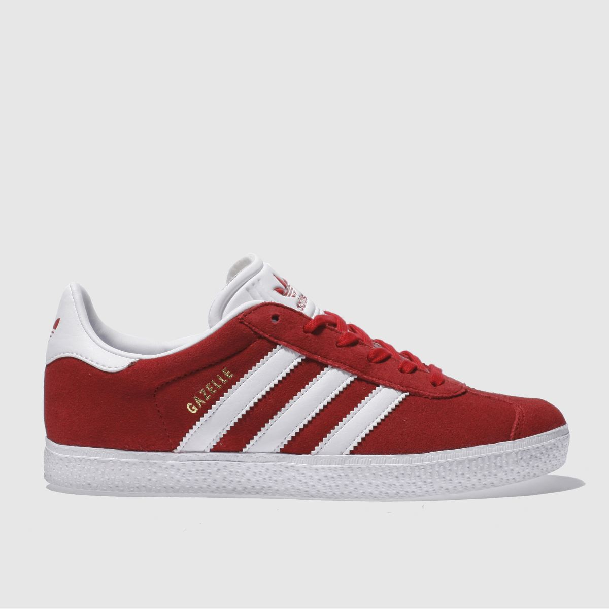 adidas red gazelle Youth Trainers