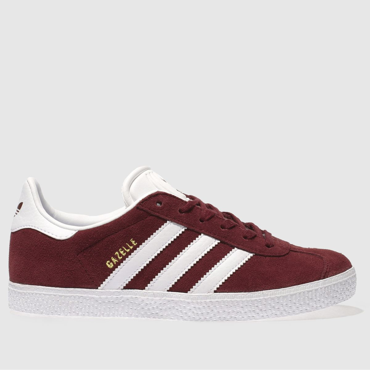 Adidas Burgundy Gazelle Trainers Youth