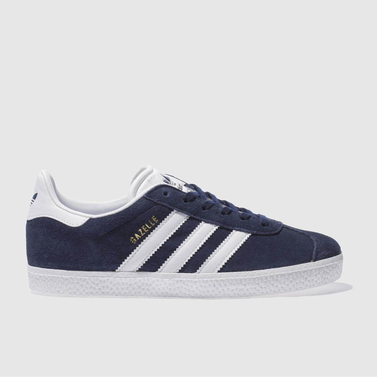 adidas navy & white gazelle Youth Trainers
