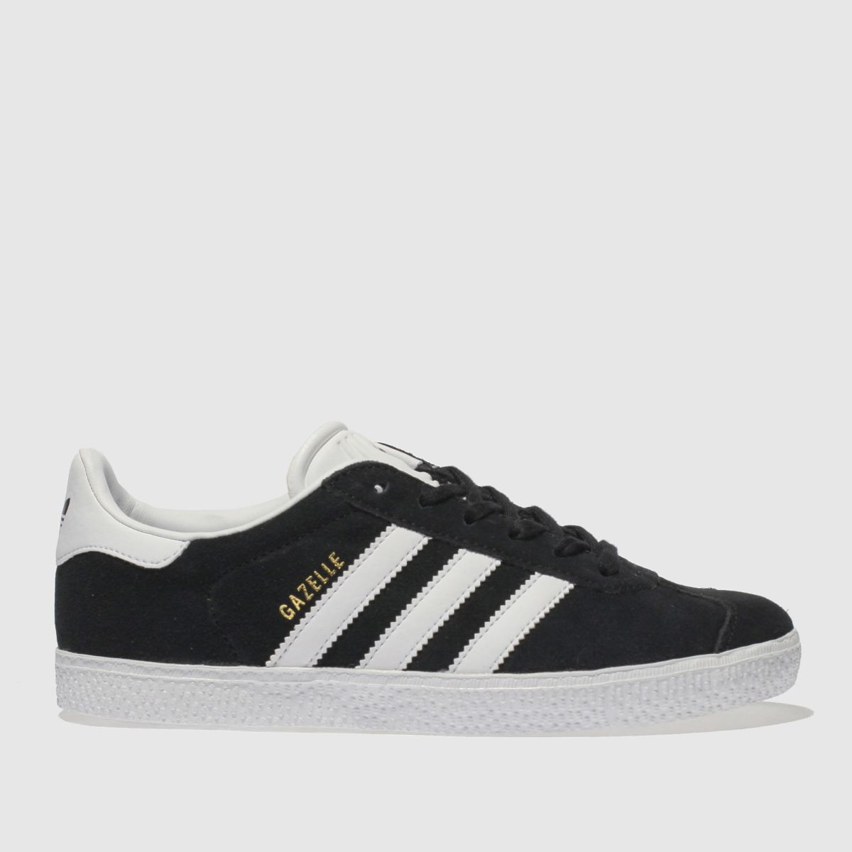 Adidas Black & White Gazelle Trainers Youth