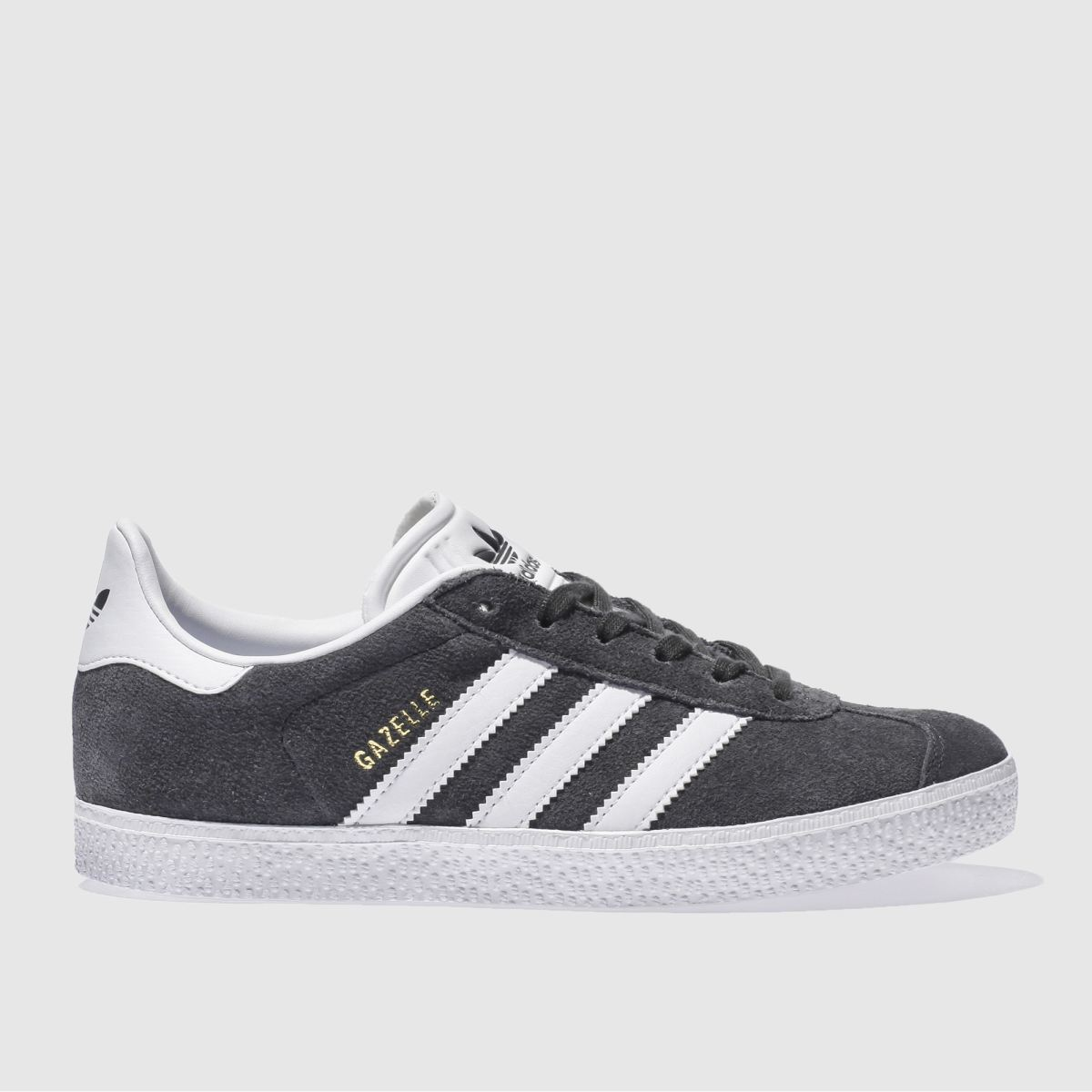 adidas dark grey adi gazelle yth Youth Trainers