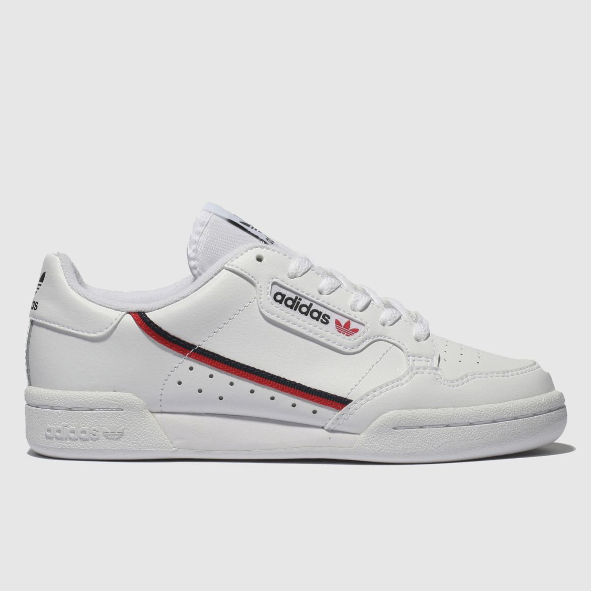 Adidas White & Red Continental 80 Trainers Youth