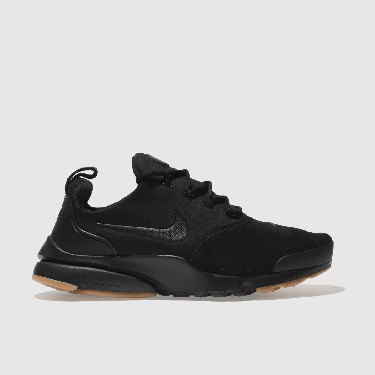 Nike Black Presto Fly Premium Trainers Youth