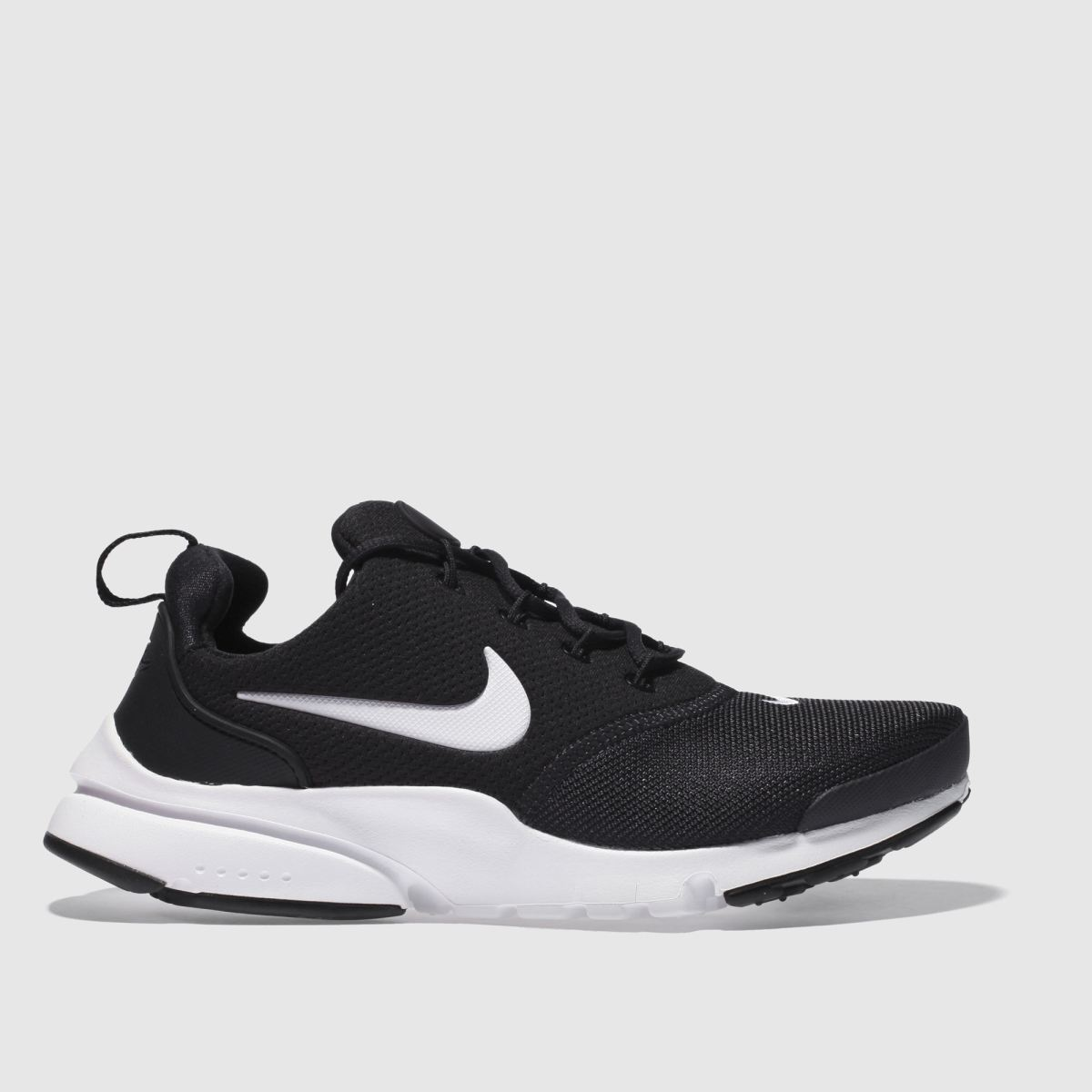 Nike Black & White Presto Fly Trainers Youth