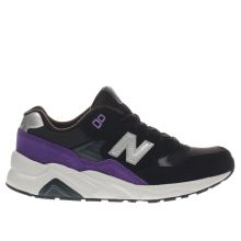 New Balance Black & Purple 580 Unisex Youth