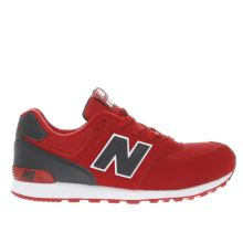 New Balance Red 574 Unisex Youth
