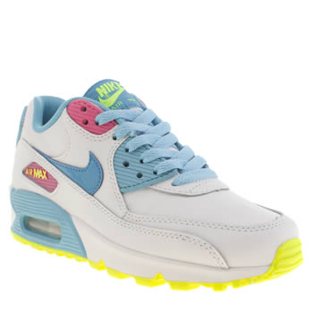 Nike White & Blue Air Max 90 2007 Unisex Youth