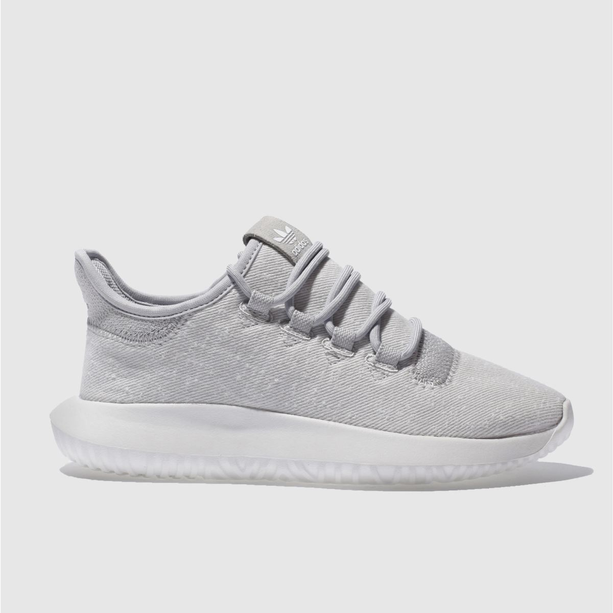 adidas light grey tubular shadow Youth Trainers