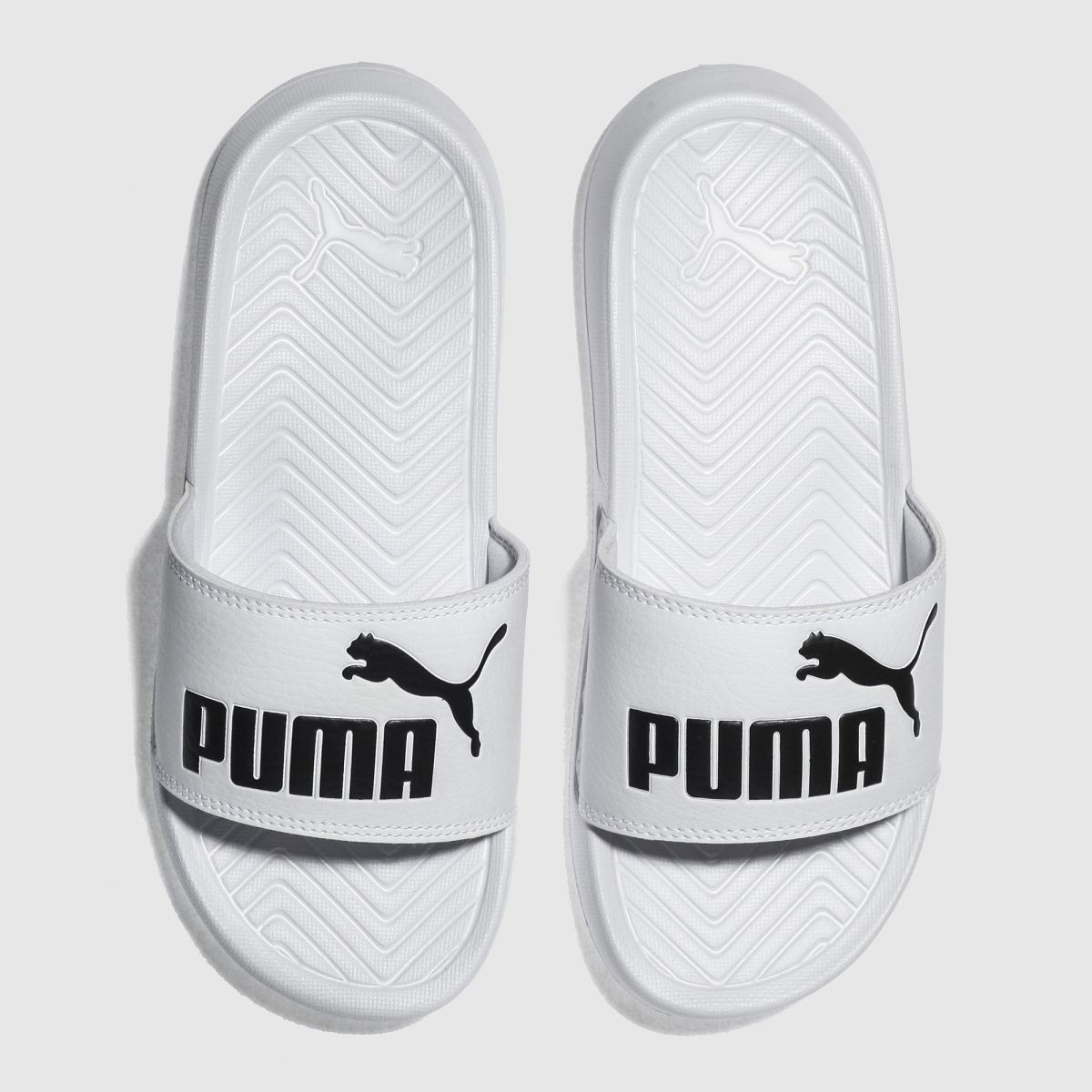 Puma White Popcat Youth Sandals